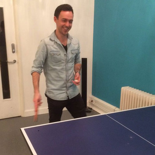Ryan playing ping-pong